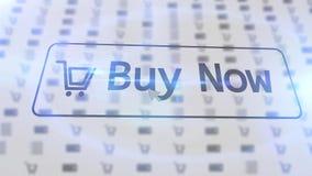 AFFARE dell'icona del negozio di Internet ORA su uno schermo bianco Fotografia Stock