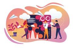 Affare dell'ufficio e processo di Teamworking lifestyle royalty illustrazione gratis