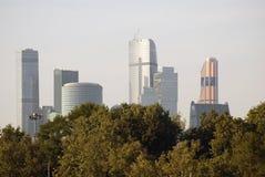 Affare della città di Mosca e centro degli appartamenti Immagini Stock Libere da Diritti