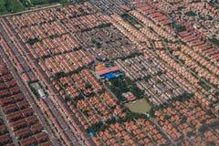 Affare della proprietà e della terra dalla vista aerea Fotografie Stock Libere da Diritti