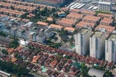 Affare della proprietà e della terra dalla vista aerea Fotografia Stock Libera da Diritti