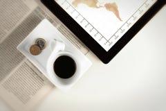 Affare della tazza di caffè Fotografia Stock