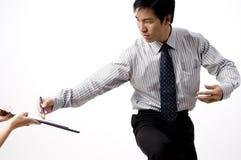 Affare di affari in Asia Fotografie Stock