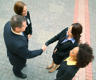 Affare di affari di diversità Immagine Stock Libera da Diritti