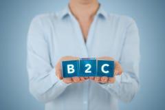 Affare di B2c al consumatore fotografie stock libere da diritti