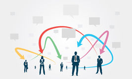 Affare di comunicazione del gruppo sociale Immagini Stock