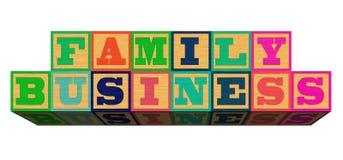 Affare di famiglia su fondo bianco Immagini Stock Libere da Diritti