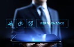Affare di ottimizzazione di aumento dell'indicatore di efficacia chiave di KPI e processo industriale fotografie stock libere da diritti