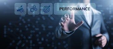 Affare di ottimizzazione di aumento dell'indicatore di efficacia chiave di KPI e processo industriale immagini stock libere da diritti