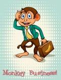 Affare di scimmia inglese di idioma Immagine Stock