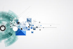 Affare di tecnologie informatiche di Internet futuristico di scienza alto Immagine Stock