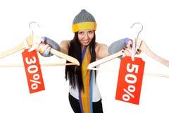 Affare di vendita di inverno grande Fotografia Stock