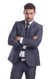 Affare e concetto dell'ufficio - uomo d'affari in vestito fotografie stock libere da diritti