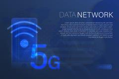Affare e finanza - sicurezza della rete 5G illustrazione vettoriale