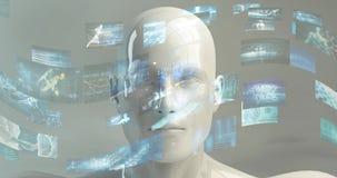 Affare e fondo futuro dell'estratto di concetto di tecnologia stock footage