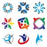 Affare e logo consultantesi di concetto Immagini Stock Libere da Diritti