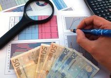 Affare e successo finanziario Fotografia Stock