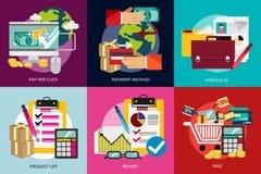 Affare e vendita illustrazione vettoriale