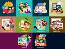 Affare e vendita illustrazione di stock