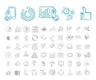 Affare ed insieme infographic dell'icona Fotografia Stock