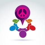 Affare ed organizzazione della società che prendono cura circa la pace, v Immagini Stock Libere da Diritti