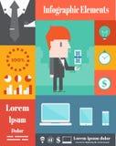 Affare, elementi di Infographic di vettore Fotografia Stock Libera da Diritti