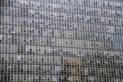Affare enorme che costruisce interamente fatto delle finestre di vetro Fotografia Stock