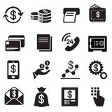 Affare, finanza, icone di investimento messe Immagini Stock Libere da Diritti