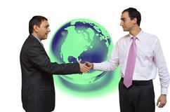 Affare finanziario globale immagine stock