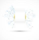 Affare futuristico di tecnologie informatiche di Internet illustrazione di stock