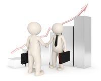 Affare - gente di affari 3d che agita le mani - grafico Immagini Stock