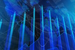 Affare globale, commercio e concetto delle azione Fotografia Stock