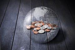 Affare globale dei soldi americani fotografia stock