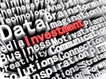 Affare grafico ed investimento descriventi di concetto scritti nel rosso Immagini Stock Libere da Diritti