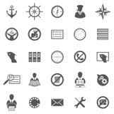 Affare Gray Icon Set Immagine Stock Libera da Diritti