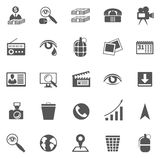 Affare Gray Icon Set Fotografie Stock