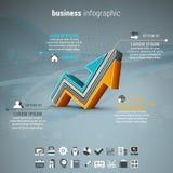 Affare Infographic Fotografia Stock