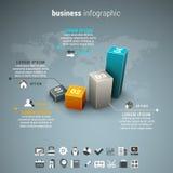 Affare Infographic illustrazione vettoriale