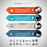 Affare Infographic Fotografie Stock