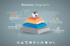 Affare Infographic fotografia stock