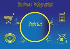Affare infographic con gli elementi di vendita Fotografia Stock
