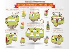 Affare Infographics, sistema di organizzazione di ufficio Immagini Stock Libere da Diritti