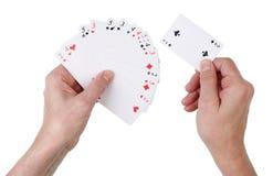 Affare infruttuoso in un concetto dei giochi con le carte Immagini Stock