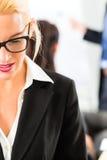 Affare - le persone di affari hanno riunione del gruppo Immagine Stock Libera da Diritti