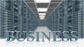 AFFARE - lettere 3D davanti al fondo della stanza del server illustrazione vettoriale