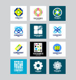 Affare Logo Set corporativo Fotografia Stock Libera da Diritti