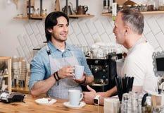 Affare moderno del caffè Fotografia Stock