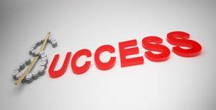 Affare nel successo. Fotografie Stock Libere da Diritti