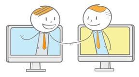 Affare online di affari Immagini Stock Libere da Diritti
