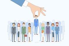 Affare Person Candidate People Group di raccolto della mano di assunzione Immagine Stock
